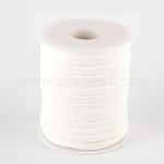 Cable de nylon suave, piso, blanco cremoso, 5x3mm, aproximamente 20 m / rollo