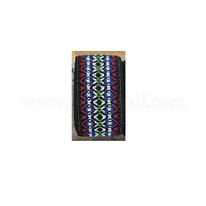 Ethnic Style Colored Flat Elastic Fibre Rubber BandEC-L002-D01-A-1