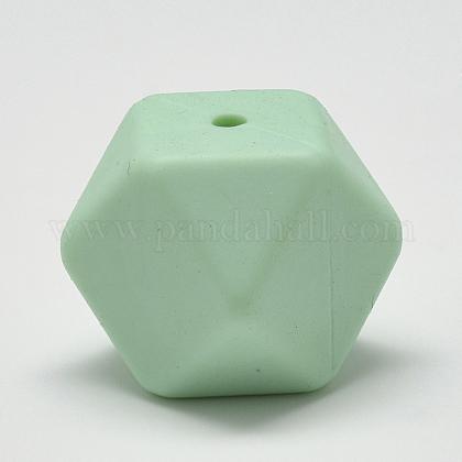 Abalorios de silicona ambiental de grado alimenticioSIL-Q009A-38-1