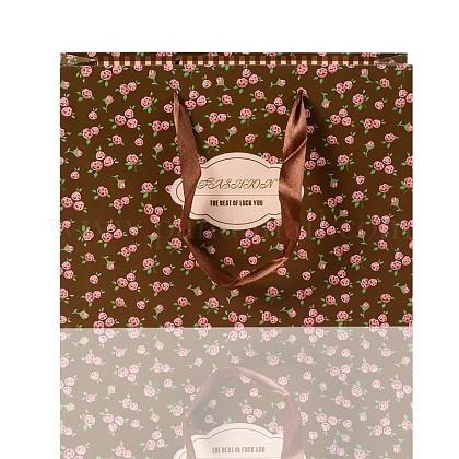 Bolsas de papel rosa impresas rectangularesCARB-F001-16A-1