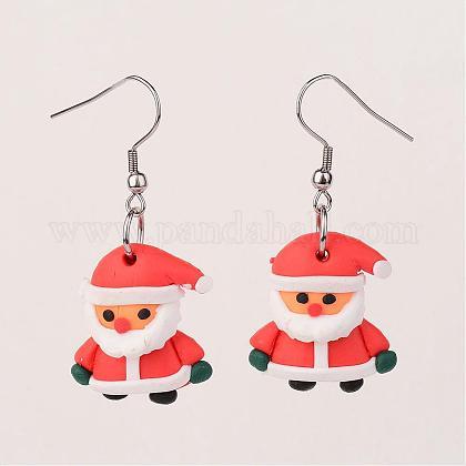Father Christmas EarringsEJEW-JE02126-01-1