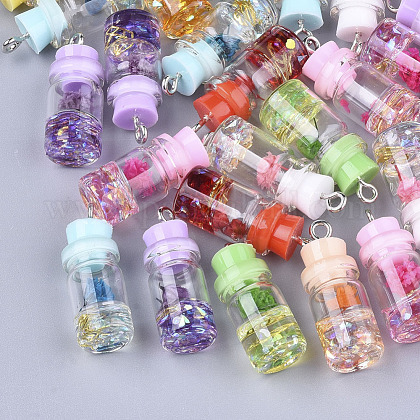 Glass Bottle Pendant DecorationsX-GLAA-S181-05-1