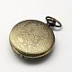 Aleación de zinc cabezas huecas reloj de cuarzo de la vendimia para el reloj de bolsillo el collar del colganteWACH-R005-27-2