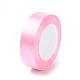 Breast Cancer Pink Awareness Ribbon Making Materials Light Pink Satin Ribbon Wedding Sewing DIYX-RC25mmY004-1
