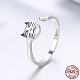 925 Sterling Silver Kitten Jewelry SetsSJEW-FF0002-08AS-3