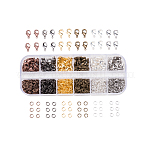 Pandahall 1 caja kit de fornituras de joyería con 840 uds anillos de salto abiertos de latón y 120 uds cierres  de pinza de langosta 6 colores para hacer joyas