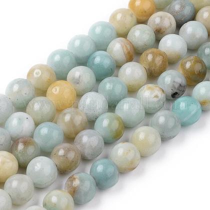 Natural Amazonite Beads StrandsG-L476-12-1