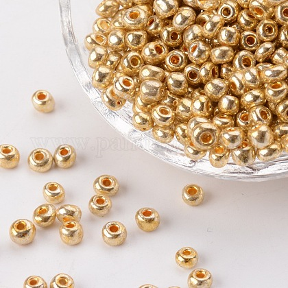 Electroplate Glass Seed Beads SEED-Q005-01-1
