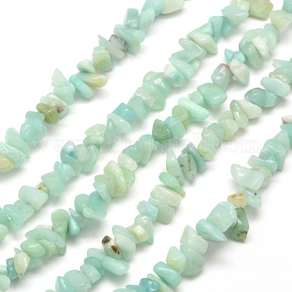 Natural Amazonite Chip Bead Strands G-M205-12-1