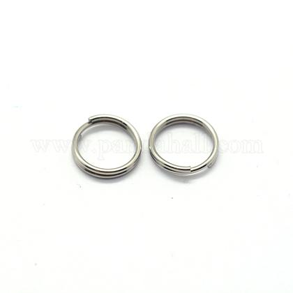 304 Stainless Steel Split RingsSTAS-E010-6x1mm-2-1