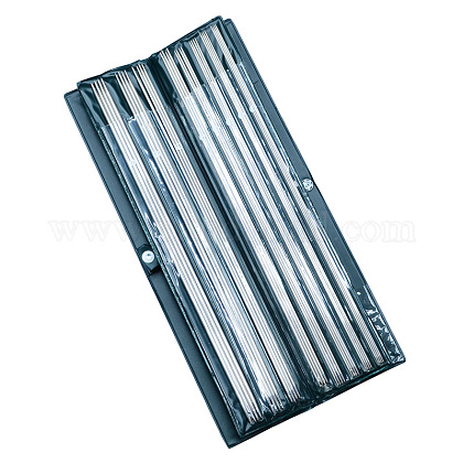 Base de doble aguja de tejer con punta de acero inoxidableTOOL-R051-36cm-1