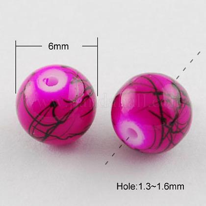 Drawbench Glass Beads StrandsX-GLAD-S074-6mm-86-1