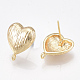 Brass Stud Earring FindingsKK-T038-496G-2