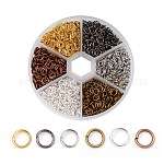 2300 pcs 6 color anillos de salto de hierro pero sin soldar, Conectores de metal para la fabricación de joyas de diy y accesorios de llavero, color mezclado, 21 calibre, 5x0.7mm; Diámetro interior: 3.6mm; aproximadamente 2300pcs / caja