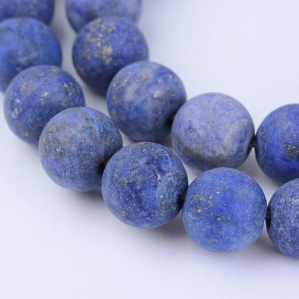Lapis lazuli perles synthétiques brinsG-Q462-6mm-19-1