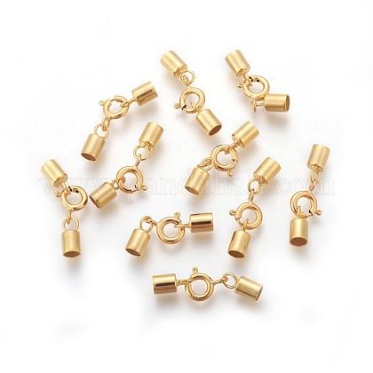 925 cierres de anillo de resorte de plata de leySTER-G019-H-08G-1