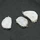 Natural Geode Agate Druzy Slice PendantsG-L461-04C-4