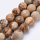 Natural Picture Jasper Beads Strands G-S281-01-8mm-1