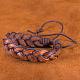 Pulseras de cuero trenzadas ajustables unisex ocasionalesBJEW-BB15584-9