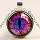 Collares pendientes de cristal con forma de ojo de dragónNJEW-N0051-007P-02-1
