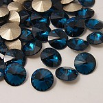 Strass point de verre, rivoli strass pour les bijoux de bricolage, cône à facettes, zircon bleu, 10x5 mm; environ 288 PCs / sac