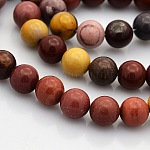 Natural Mookaite Round Beads Strands, 8mm, Hole: 1mm; about 50pcs/strand, 15.7inches