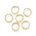 304 Stainless Steel Jump Rings, Open Jump Rings, Golden, 10x1.2mm