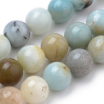 Natural Amazonite Beads Strands, Round, 8mm, Hole: 1mm; about 50pcs/strand, 15.7