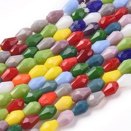 Imitation Jade Glass Beads StrandsGLAA-E415-03-1
