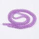 Chapelets de perles en verre mateGGB6MMY-DKM-2