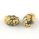 Abalorios de resina oval de piedras preciosas de imitaciónX-CRES-S283-18x25-M-2