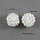 Abalorios de resina de Diamante de imitaciónX-RESI-S253-14mm-GAB1-1