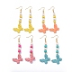 Butterfly Dangle Earrings EJEW-JE04085-1