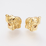 Long-Lasting Plated Alloy Beads, Elephant, Golden, 12x5.5x11mm, Hole: 2mm