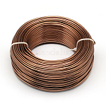 Aluminum Wire, Bendable Metal Craft Wire, for DIY Jewelry Craft Making, Sienna, 3 Gauge, 6.0mm; 7m/500g(22.9feet/500g)