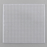 Abc plaques utilisés pour les perles à repasser 5x5mm diy, carrée, clair, 147x147x5mm