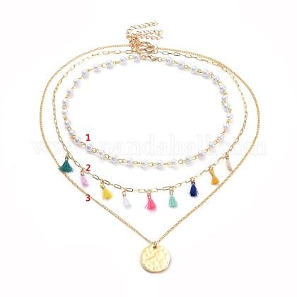 Juegos de colgantes y collares de cadenaNJEW-JN02760-1
