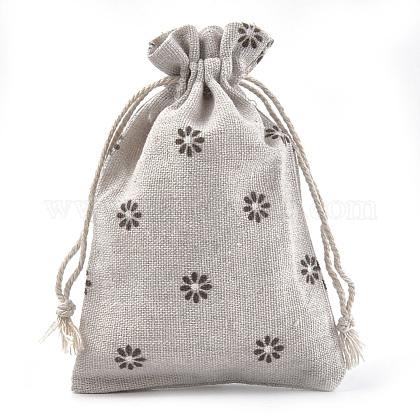 ポリコットン(ポリエステルコットン)パッキングポーチ巾着袋ABAG-S004-04A-10x14-1