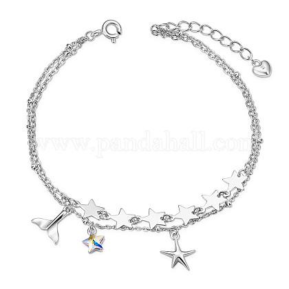 SHEGRACE® 925 Sterling Silver Multi-Strand BraceletsJB552A-1