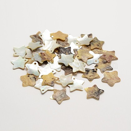 Star Natural Akoya Shell CharmsSHEL-N031-18-1
