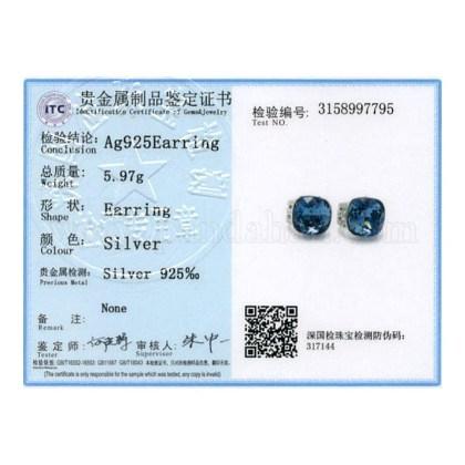 925の純銀製の耳スタッドEJEW-BB34167-1