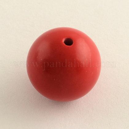 Round Cinnabar BeadsCARL-Q002-8mm-1