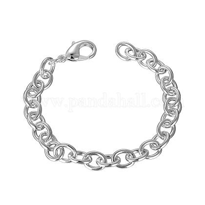 Trendy Brass Cable Chains BraceletsBJEW-BB12490-1