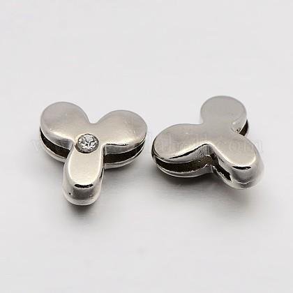 Letter Slider Beads for Watch Band Bracelet MakingX-ALRI-O012-Y-NR-1