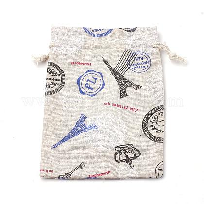 ポリコットン(ポリエステルコットン)パッキングポーチ巾着袋ABAG-S003-02B-1