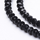Opaque Solid Color Faceted Glass Beads StrandsEGLA-J047-4x3mm-07-2