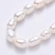 Hebras de perlas de agua dulce cultivadas naturalesPEAR-S012-41C-4