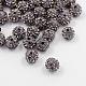 Grado de diamante negro abalorios una bola del disco pavimenta redondaX-RB-H258-10MM-215-1