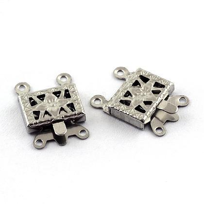 304 Stainless Steel Box ClaspsSTAS-Q194-27-1
