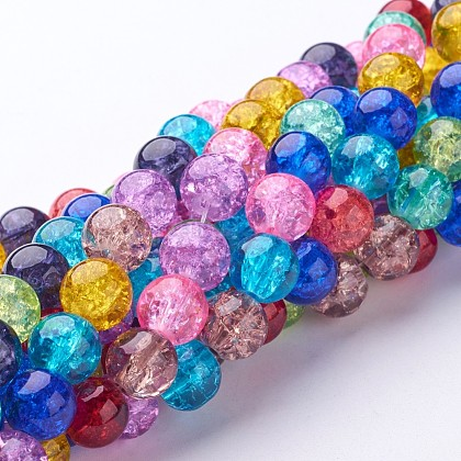 Crackle Glass Beads StrandsGGM004-1